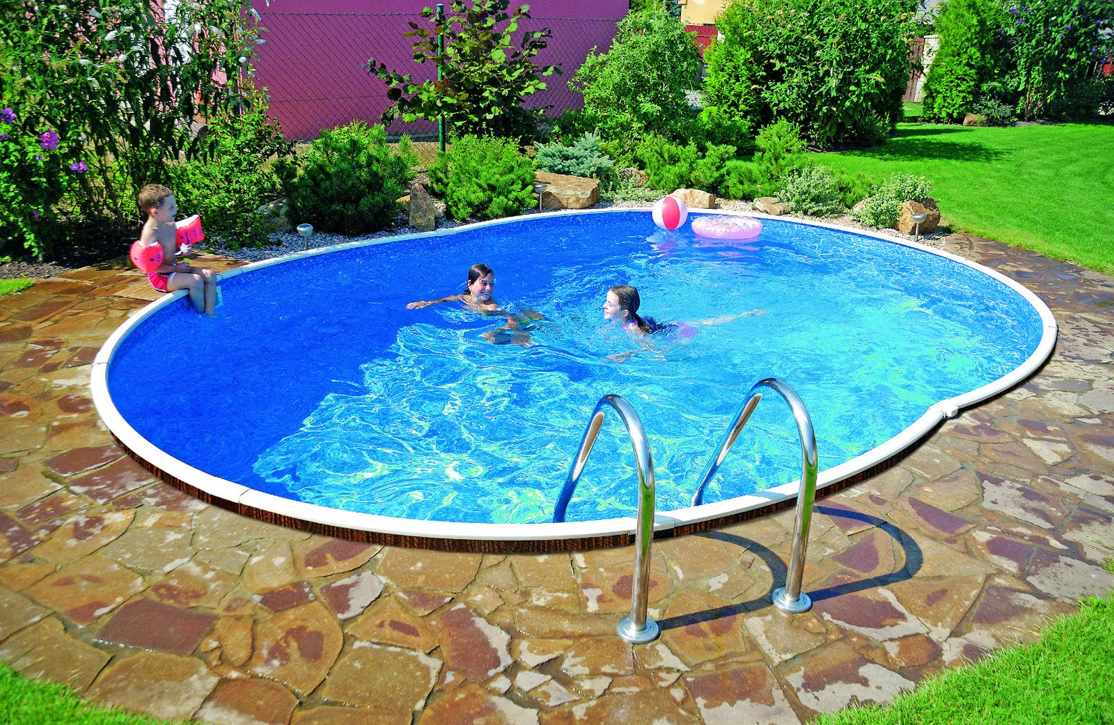 Mountfield azuro oval above ground and inground for Cheap inground pools