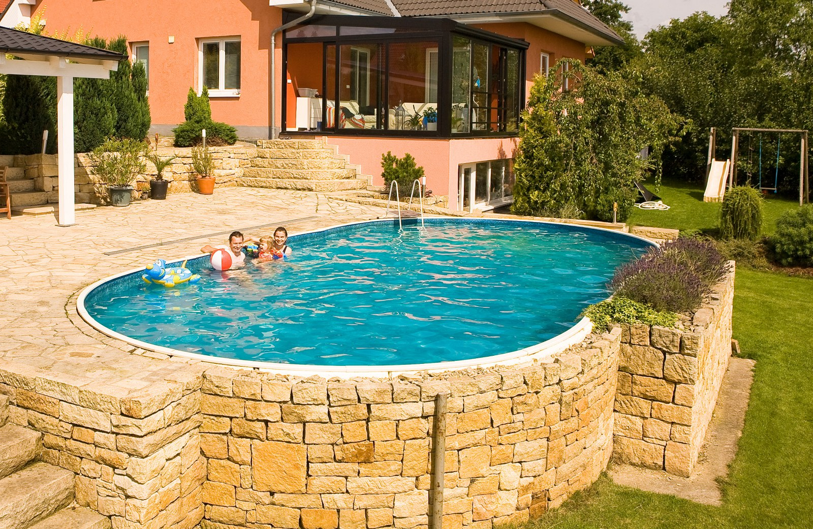 Mountfield azuro oval above ground and inground for Oval swimming pool