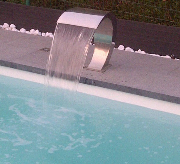 Waterfall stainless steel swimming pools