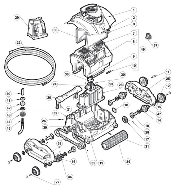 Hayward Electric Pool Cleaners Spare Parts Parts