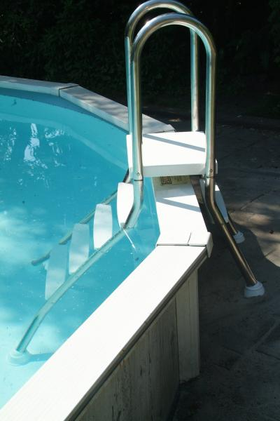 Partially In Ground Stainless Steel Ladder Astral Pool