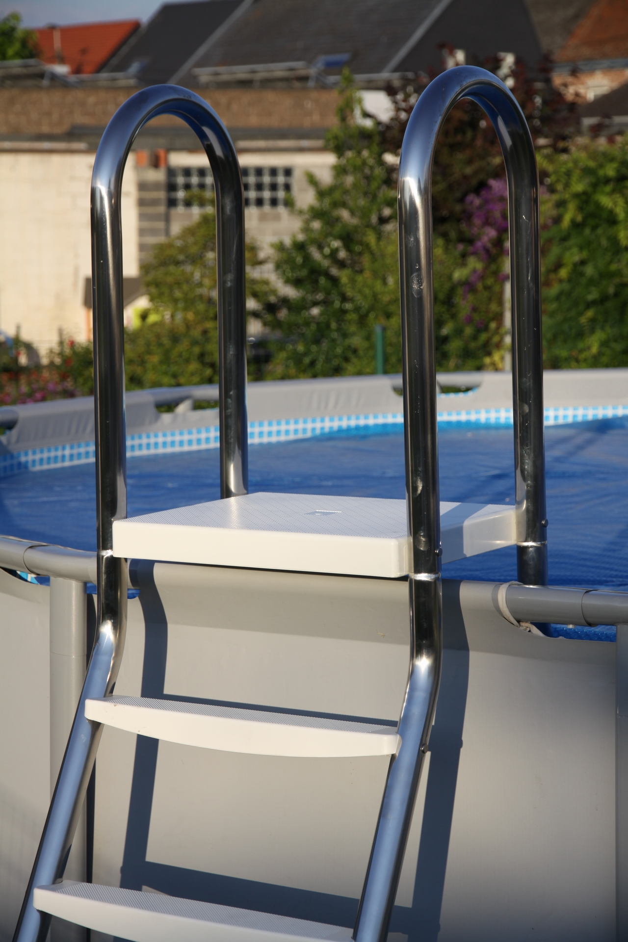 Stainless steel pool ladder astral pool rudy for Pool ladder