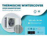 Thermal winter cover for heat pump