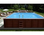 Liner 75/100 for rectangular wooden pool Pearl of South 834 x 492 x 138 cm
