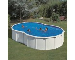 Solar cover for eight form pool Dreampool
