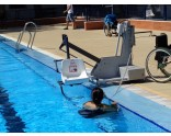 Pool lift with battery - moveable - up to 150 kg